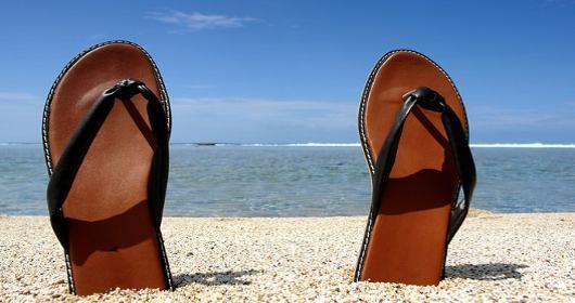 papuce na plazi